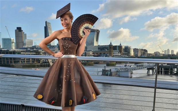 A chocolate dress